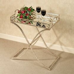 Marla Accent Tray Table Silver with Gold $139.99
