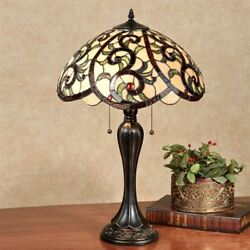YaVonne Stained Glass Table Lamp Ivory Each with CFL Bulb $259.00