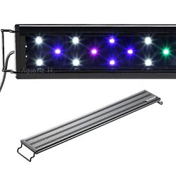 Aquaneat LED Aquarium Light Multi Color Full Spec Marine FOWLR 12 20 24 30 36 48 $10.39