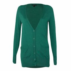 J.Crew Used - Excellent Classic Merino Wool Long Cardigan Sweater Green Extra Sm