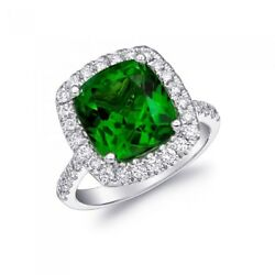 Natural Chrome Tourmaline 5.82 carats set in 14K White Gold Ring