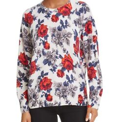 NEW EQUIPMENT WOMENS MELANIE FLORAL CASHMERE SWEATER