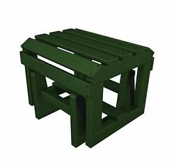 POLYWOOD Classic Adirondack Green Plastic Ottoman Home Patio Furniture Outdoor