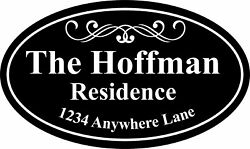 Personalized House Address Sign Plaque Family Name Aluminum.