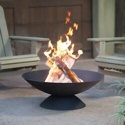 Outdoor Fire Pit Bowl Small Wood Burning Cast Iron Fireplace 30