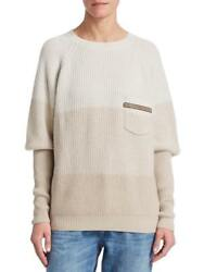 NEW BRUNELLO CUCINELLI WOMENS KNIT CASHMERE SWEATER