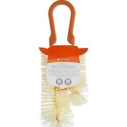 Full Circle Reach Double Sided Orange Bottle Brush Made From Recycled Materials