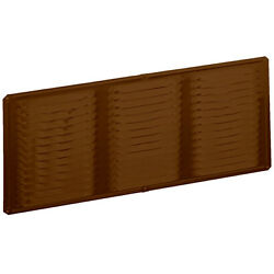 Air Vent Heavy Duty Brown Aluminum 8-in L x 16-in W with 8-in Screen Soffit Vent