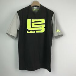 Nike Air Mens T Shirt Size M Lebron James King 23 Neon Gray Embroidered