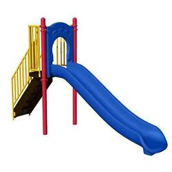 Multi-Colored Metal 4 ft. Commercial Inground Install Park Slide Playset