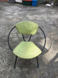 Mid Century Modern Patio Lounge Chair Retro Round Dish Saucer UFO Frank And Sons