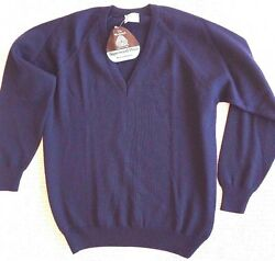 Mens Wool Jumper size18 XL Blue Merino Wool Made in Australian Fashion Clothing