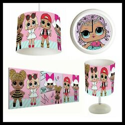 LOL SURPRISE DOLLS 168 Girls Bedroom Lampshade Lamp Clock Canvas Prints GBP 74.99