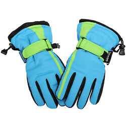 Children Ski Waterproof Gloves Winter Warm Outdoor Riding Thicken Boys Mittens $15.97
