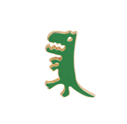 Green Dinosaur T rex Cute Enamel Pin. Badge Brooch Vintage boho DIY Accessory GBP 3.99