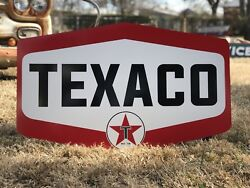 Antique Vintage Old Style Texaco Motor Oil Sign $148.75
