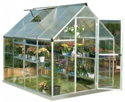 Solar Greenhouse Plants Hot House Grow Polycarbonate Aluminum Frame Kit 6' X 8
