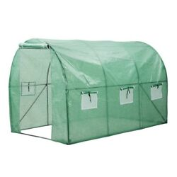 Portable Green House - Walk in a Greenhouse with Clear Cover Arched 56