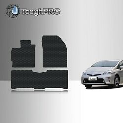 ToughPRO Floor Mats Black For Toyota Prius All Weather Custom Fit 2010 2015 $79.95