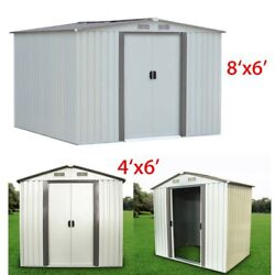 6'x4'6'X8' Outdoor Garden Storage Utility Shed Backyard Lawn Steel Tool House M