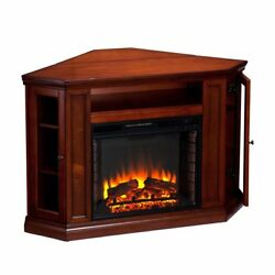 Corner Tv Stand With Fireplace Media Console Electric Entertainment Center