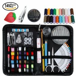 Travel Sewing Tailor Kit Held Mini Supplies Accessories 145 Items for Beginners