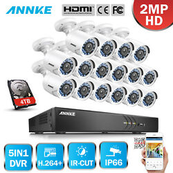 ANNKE 3MP 8CH16CH TVI 2MP Video KIT Outdoor 1080P Security Camera System 4TB HD