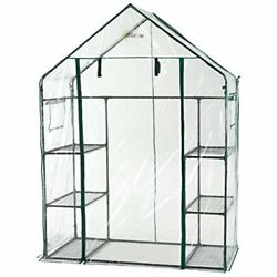 3 Tier 6 Shelf Portable Outdoor Walk in Greenhouse w Strong Durable Clear Cover