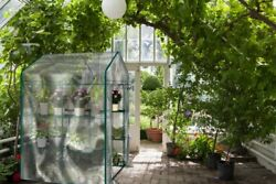 Walk in Outdoor Greenhouse w 12 Shelves Stands 3 Tiers Racks w Clear Cover NEW