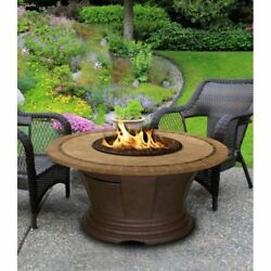 American Fire Products San Simeon Chat Height Round Capistrano Mosaic Top Gas