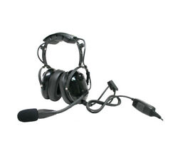 ARC T26016 Heavy Duty Earmuff Boom Mic for Harris MA-COM P Series 2-Way Radios