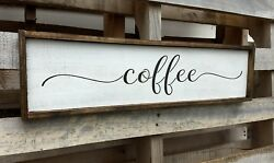 FARMHOUSE wood sign COFFEE kitchen rustic wooden welcome laundry large country $49.99