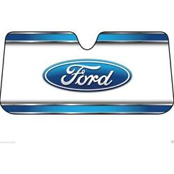 Plasticolor Ford Logo Foldable Ultra Durable Front Windshield Sunshade Cover $17.99