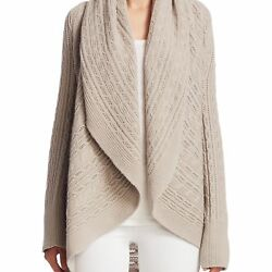 NEW TSE X SFA WOMENS CASHMERE CABLE KNIT CARDIGAN