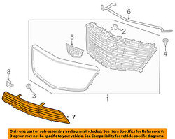 Cadillac GM OEM 17-18 XT5 Front Bumper-Lower Bottom Grille Grill 84107965