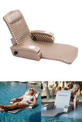 Lounge Chair Pool Floating Water Folding Adjustable Recliner Soft Foam Bronze