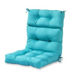 High Back Chair Cushion Teal Home Fashions Outdoor For Patio Seat Furniture New