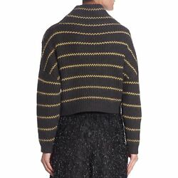 NEW BRUNELLO CUCINELLI WOMENS STRIPED CASHMERE SWEATER
