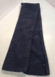 """J Crew Blue 54"""" Wool Scarf Preowned RecyclesClothes.com"""
