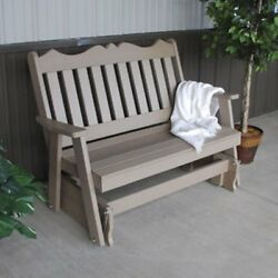 A & L Furniture Royal English Recycled Plastic 4 ft. Outdoor Glider