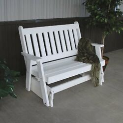 A & L Furniture Traditional English Recycled Plastic 4 ft. Outdoor Glider