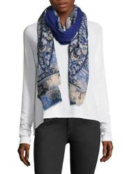 NEW ETRO WOMENS BLUE PAISLEY CASHMERE SCARF