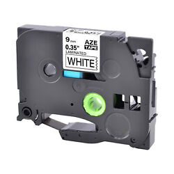 TZ-221 TZe-221 9mm For Brother P-Touch Black on white Label Tape 0.35'' 38