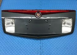 Grey Cadillac CTS Center Taillight Light Lamp License Plate Trunk Finish Panel