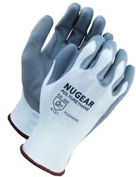 12 PAIRS POLYURETHANE PU PALM COATED PROTECTIVE SAFETY WORK GLOVES $14.99