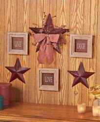 6 PC Live Love Laugh Framed Signs Country Stars Rustic Primitive Wall Home Decor