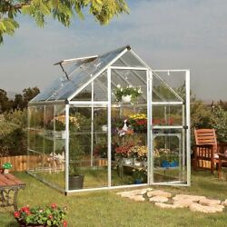 Harmony 6 x 8 Greenhouse Starter Kit with Polycarbonate panels