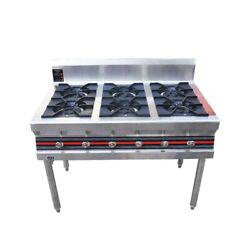 Natural Gas 8 Burner Stove Cook  Windscreen Outdoor Gas Household