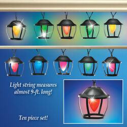Color Changing Lanterns Solar Powered String Lights 9 ft Long Patio Deck Party