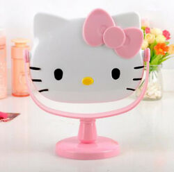 Cute For Pink Hello Kitty Desk Table Pink Bow Make up Mirror Cosmetic Mirror $12.98